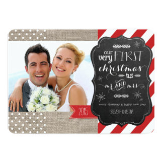Our Very First Christmas as Mr and Mrs Photo Card 13 Cm X 18 Cm Invitation Card