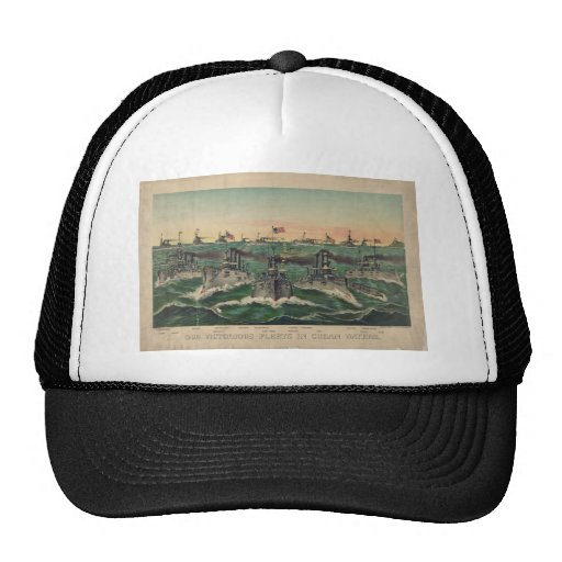 Our Victorious Fleets in Cuban Waters Currier Ives Trucker Hat