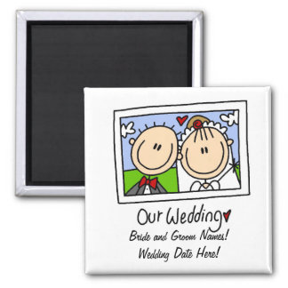 Our Wedding Customizable Magnet