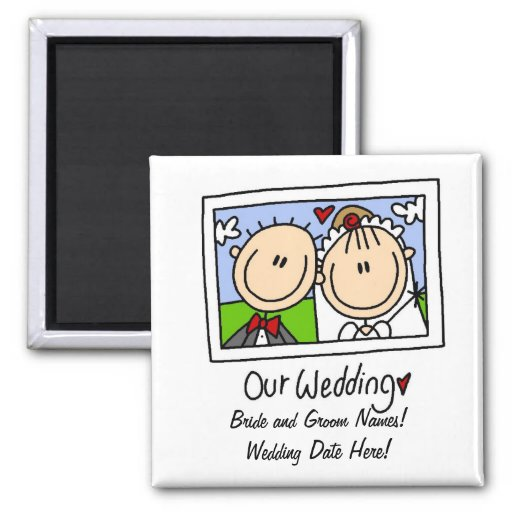 Our Wedding Customizable Magnet Refrigerator Magnet