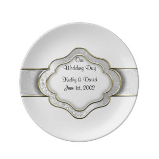 Our Wedding Day (Silver) Plate