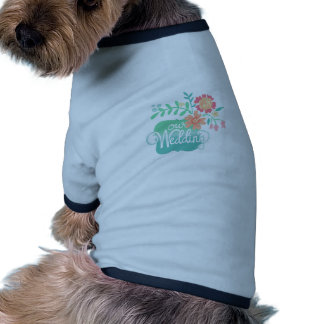Our Wedding Floral Doggie T-shirt