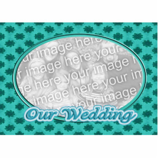 Our Wedding floral photo frame Standing Photo Sculpture