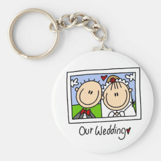 Our Wedding Photograph Tshirts and Gifts Keychain