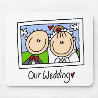 Our Wedding Photograph Tshirts and Gifts Mouse Pad