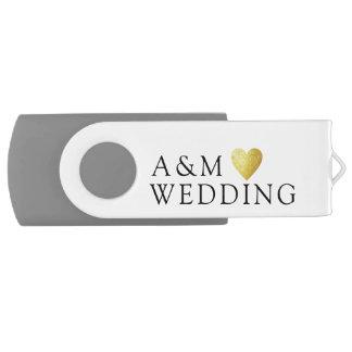 our wedding photos saved on a USB flash drive