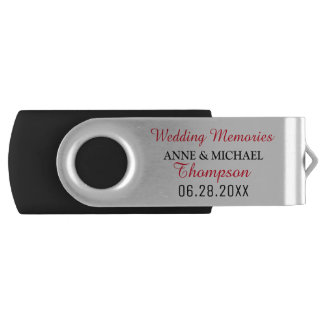 our wedding photos USB flash drive