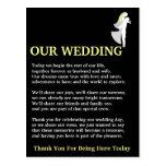 Our Wedding Postcard
