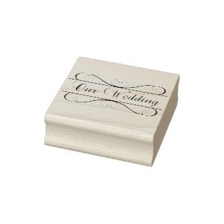 Our Wedding Rubber Stamp