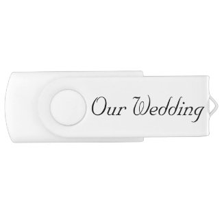 OUR WEDDING SWIVEL FLASH DRIVE