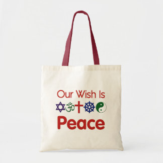 Our Wish is PEACE Budget Tote Bag