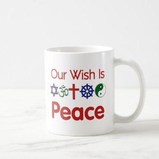 Our Wish Is PEACE Mug