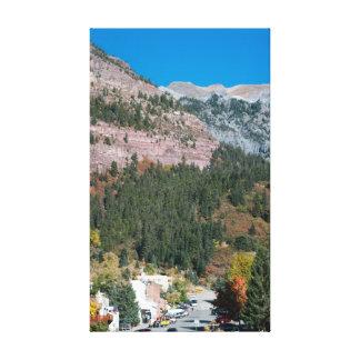 Ouray, Colorado in Autumn Canvas Print
