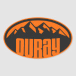 Ouray Colorado Oval Sticker