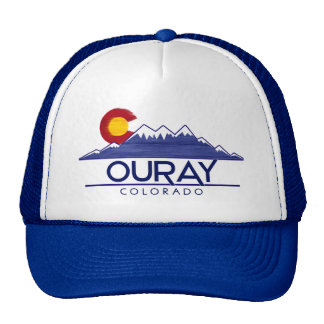 Ouray Colorado wood mountains hat