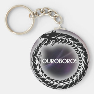 Ouroboros Snake Eating Tail Purple Background Key Ring 31a4eb464
