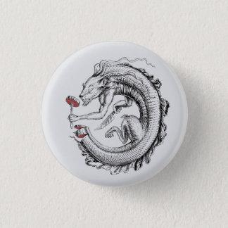 ouroboros sushi 3 cm round badge