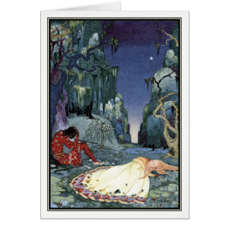 Ourson and Violette by Virginia Frances Sterrett Card