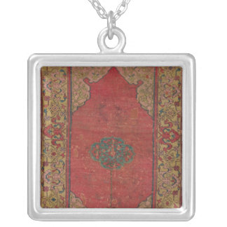 Oushak Rug Silver Plated Necklace