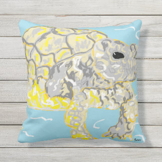 Out Door Throw Pillow Sea Turtle