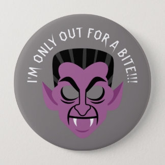 Out for a bite Vampire Halloween party button