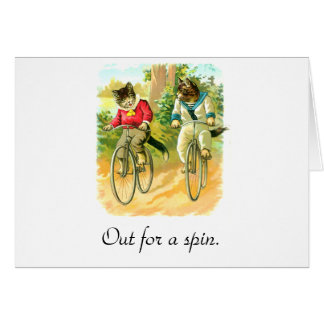 Out for a spin greeting card