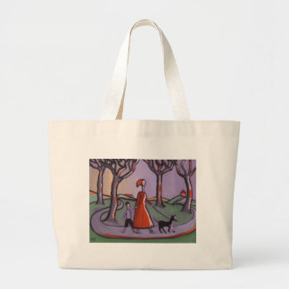 OUT FOR A WALK CANVAS BAGS