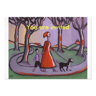 OUT FOR A WALK, You are invited Personalised Invitations