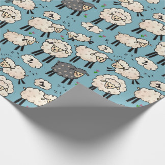 """""""Out for the Count"""" Sheep Gift Wrap"""