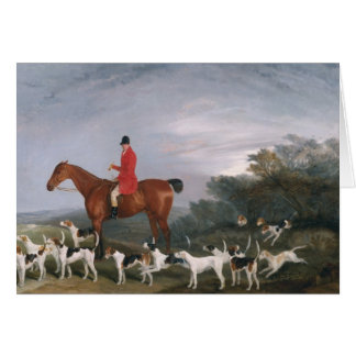 Out Hunting, 1841 Greeting Card