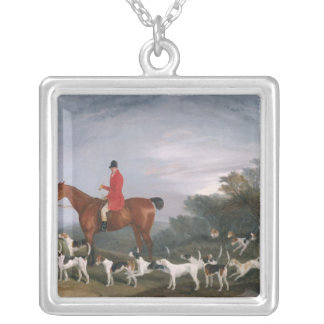 Out Hunting, 1841 Silver Plated Necklace