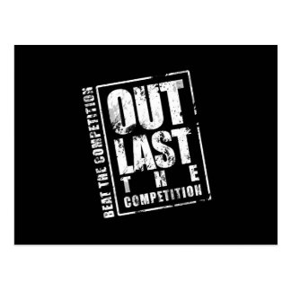 Out Last The Competition - Black Postcard