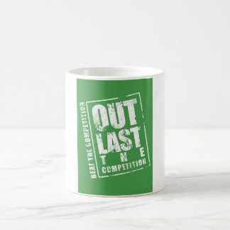 Out Last The Competition - Green Basic White Mug