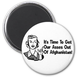 Out of Afghanistan 6 Cm Round Magnet
