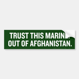 Out of Afghanistan Bumper Sticker