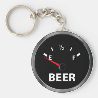 Out of Beer Fuel Gauge Key Ring