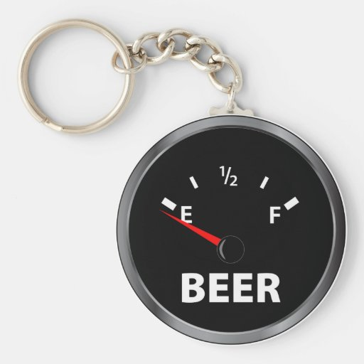 Out of Beer Fuel Gauge Key Chains