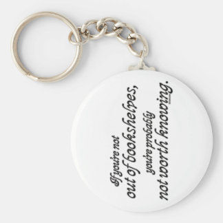 Out of Bookshelves Keychain