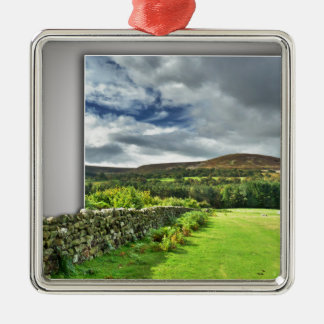 Out of bounds Yorkshire wall Silver-Colored Square Decoration