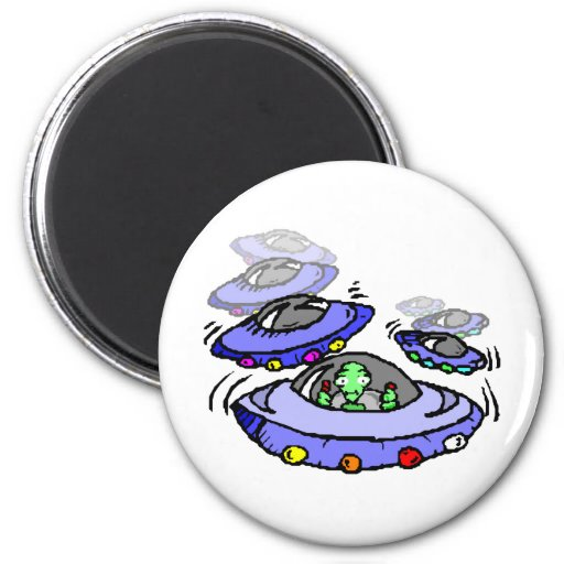 Out of Control UFO Refrigerator Magnets