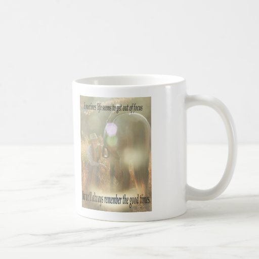 Out of Focus: Cowgirl and Buckskin Mugs