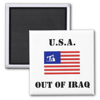 OUT OF IRAQ Square Button Square Magnet