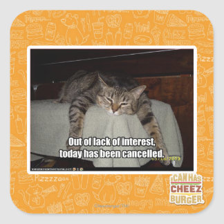 Out of lack of interest square sticker