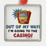 Out of My Way Casino Silver-Colored Square Decoration