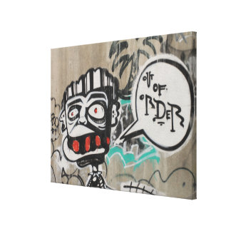 Out Of Order Graffiti Stretched Canvas Print