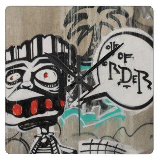 Out Of Order Graffiti Wall Clocks