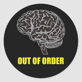 out of order round sticker