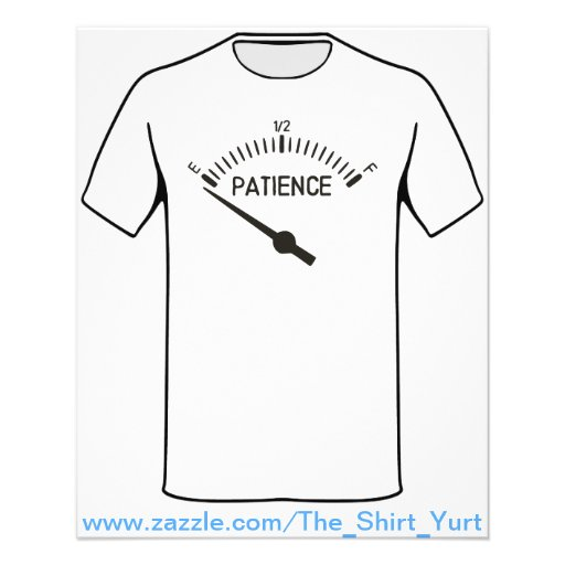 Out of Patience Gas Gauge Custom Flyer