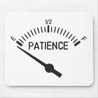 Out of Patience Gas Gauge Mouse Mat