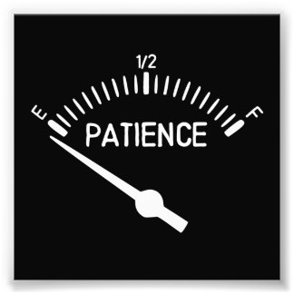 Out of Patience Gas Gauge Photo